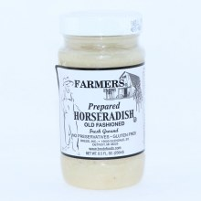 Farmers Prepared Old Fashioned Horseradish Freshly Ground No Preservatives and Gluten Free