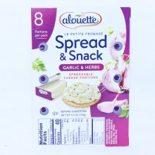 Alouette Garlic  and  Herbs Spreadable Cheese Portions