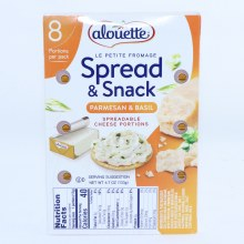 Alouette Parmesan  and  Basil Spreadable Cheese Portions