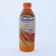 Bolthouse Farms 100Per Cent Carrot Juice. No Added Preservatives No Artificial Colors or Flavors. Gluten Free.