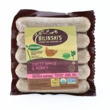 Bilinski's Organic Sweet Apple & Honey, Chicken Sausage  12 oz
