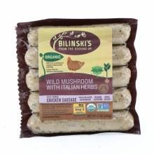 Bilinski's Organic Wild Mushroom with Italian Herbs Chicken Sausage  12 oz