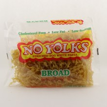 No Yolks Enriched Egg White Pasta Broad 12 oz