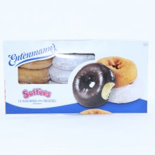 Entenmann's Soft'ees Donuts, 12 Assorted with Frosted Donuts 22 oz