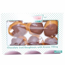 Krispy Kreme Chocolate Iced Doughnuts with Kreme Filling  16.6 oz