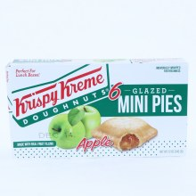 Krispy Kreme Glazed Mini Apple Pies made with Real Fruit Filling, 6 Pies 12 oz