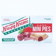 Krispy Kreme Glazed Mini Cherry Pies made with Real Fruit Filling & Other Natural Flavors 12 oz