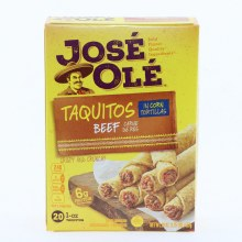 Jose Ole Taquitos with Beef In Corn Tortillas 20 Taquitos 20 oz