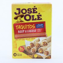 Jose Ole Taquitos with Beef  and  Cheese In Flour Tortillas 15 Taquitos 20 oz
