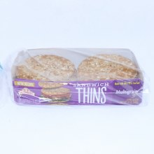 Brownberry Multigrain Sandwich Thin Rolls  12 oz