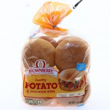 Brownberry Country Potato Sandwich Buns, 8 Count 8 buns