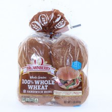 Brownberry 100% Whole Wheat Shandwich Buns  16 oz