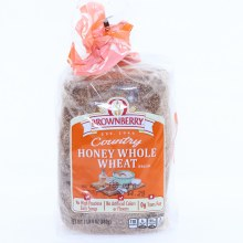 Brownberry Country Honey Whole Wheat Bread, No High Fructose Corn Syrup, No Artificial Colors or Flavors and 0g Trans Fat 24 oz