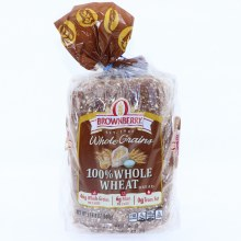 Brownberry Whole Grains, 100% Whole Wheat Bread with 42g of Whole Grains, 6g of Fiber and 0g of Trans Fat  24 oz