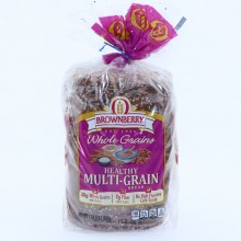 Brownberry Whole Grains Healthy Multi-Grain Bread with 38g of Whole Grains, 7g of Fiber and No High Fructose Corn Syrup.  24 oz