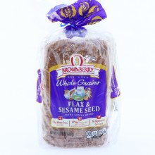 Brownberry Whole Grains Flax & Sesame Seed Extra Grainy Bread, with 22g of Whole Grains, 675mg of Omega-3 ALA and No High Fructose Corn Syrup.  24 oz