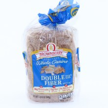 Brownberry Whole Grains Double Fiber  36g of Whole Grains  12g of Fiber and No High Fructose Corn Syrup  24 oz