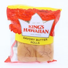 Kings Hawaiian Savory Butter Rolls  4 Rolls  4.4 oz