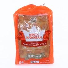 Kings Hawaiian Original Hawaiian Sweet Rolls Party Pack 24 Rolls  24 oz
