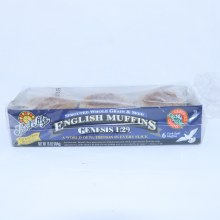Food for Life Genesis 1:29, Sprouted Whole Grain Seed English Muffins, 6 Fork-Split Muffins 16 oz