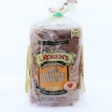 S Rosens 100Per Cent Whole Wheat Bread Bread No Trans Fat  24 oz