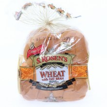 S Rosens Classic Wheat with Oat Bran Buns 8 Chicago Deli Style Buns No Trans Fat  20 oz