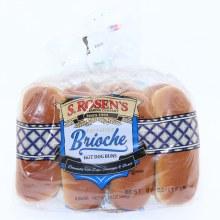 S Rosens Deli Style Brioche Hot Dog Buns  8 buns