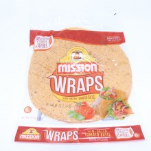 Mission Sun Dried Tomato Basil Wraps 6 Count  15 oz