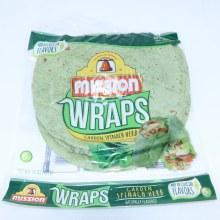 Mission Garden Spinach Herb Wraps 6 Count  15 oz