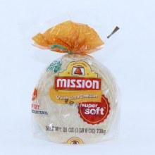 Mission White Corn Tortillas Super Soft 30 Count  25 oz