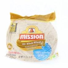 Mission Whole Wheat Soft Taco Flour Tortillas 16 oz