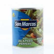 San Marcos Whole Jalapeno Peppers, No Preservatives 26 oz