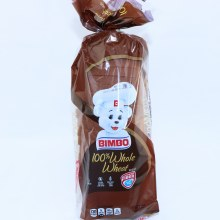 Bimbo 100% Whole Wheat Bread, No High Fructose Corn Syrup, Made With Whole Grain, K Parve 24 oz