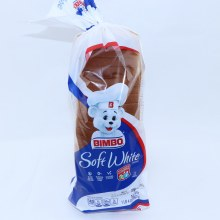 Bimbo Soft White Bread, No High Sructose Corn Syrup, No Artificial Colors Or Flavors 20 oz