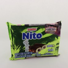 Bimbo Nito Chocolate Creme Filled Sweet Roll Artificially Flavored, 4 Individual Packages 8.74 oz
