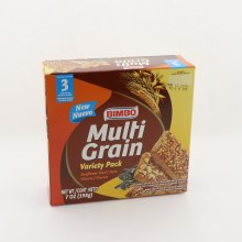 Bimbo Multi Grain Variety Pack, Sunflower Seeds, Nuts, Wheat And Oat Bar With Sunflower Seed & Flax Seed, Wheat And Oat Bar With Pecans & Almonds 6.77 oz