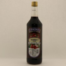 Cracovia Stawberry Syrup, Natural Flavors 1 liter