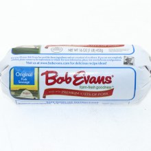 Bob Evans Original Pork Sausage Made with Premium Cuts of Pork