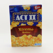 Act II Xtreme Butter Naturally Flavored Popcorn 0g Trans Fat
