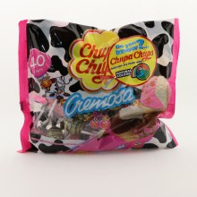 Chupa Chups Cremosa Artificially Strawberry And Cream And Choco-Vanilla Ice Cream Flavored Lollipops 16.93 oz