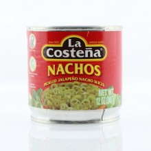 La Costena Nachos, Pickled Jalapeno Nacho Slices, No Preservatives Added 12 oz