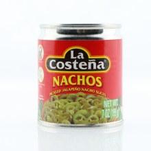 La Costena Nachos, Pickled Jalapeno Nacho Slices, No Preservaties Added 7 oz