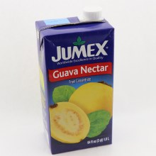 Jumex Guava Nectar From Concentrate  Naturally Free Of Saturated Fat  Trans Fat Free  Cholesterol Free  Low Sodium  Pasteurized Product 64 oz