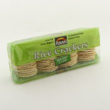 Asian Gourment Sea Salt and  Lime Rice Crackers