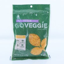 Go Veggie Cheddar Style Shreds, Vegan, 50% More Calcium, 90% Less Saturated Fat, NON GMO, No Cholesterol, Dairy and Gluten 8 oz