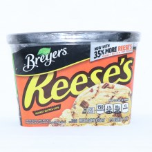 Bryers Ice Cream. Reese's Peanut Butter Cups with Fudge Swirl.  48 oz