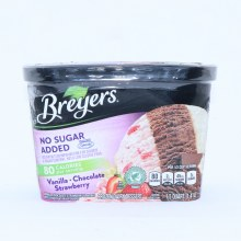 Bryers Ice Cream  No Sugar Added Vanilla  Chocolate  Strawberry Sweetened with Splenda  1.5 qt