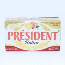 President Butter Unsalted. 7oz bar.  7 oz