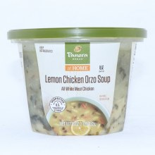 Panera Bread Lemon Chicken Orzo Soup with All White Meat Chicken