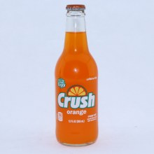 Crush Orange Soda made with Cane Sugar Caffeine Free 12 FL. oz